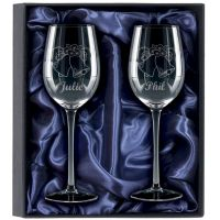 2 Red Wine Glasses Gift Set  -KA036